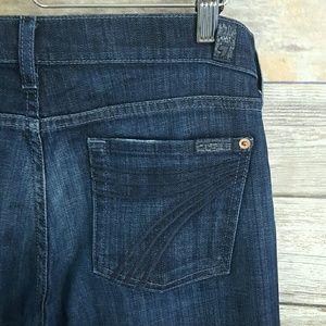 DOJO 7 for All Mankind Dark Wash Denim Jeans
